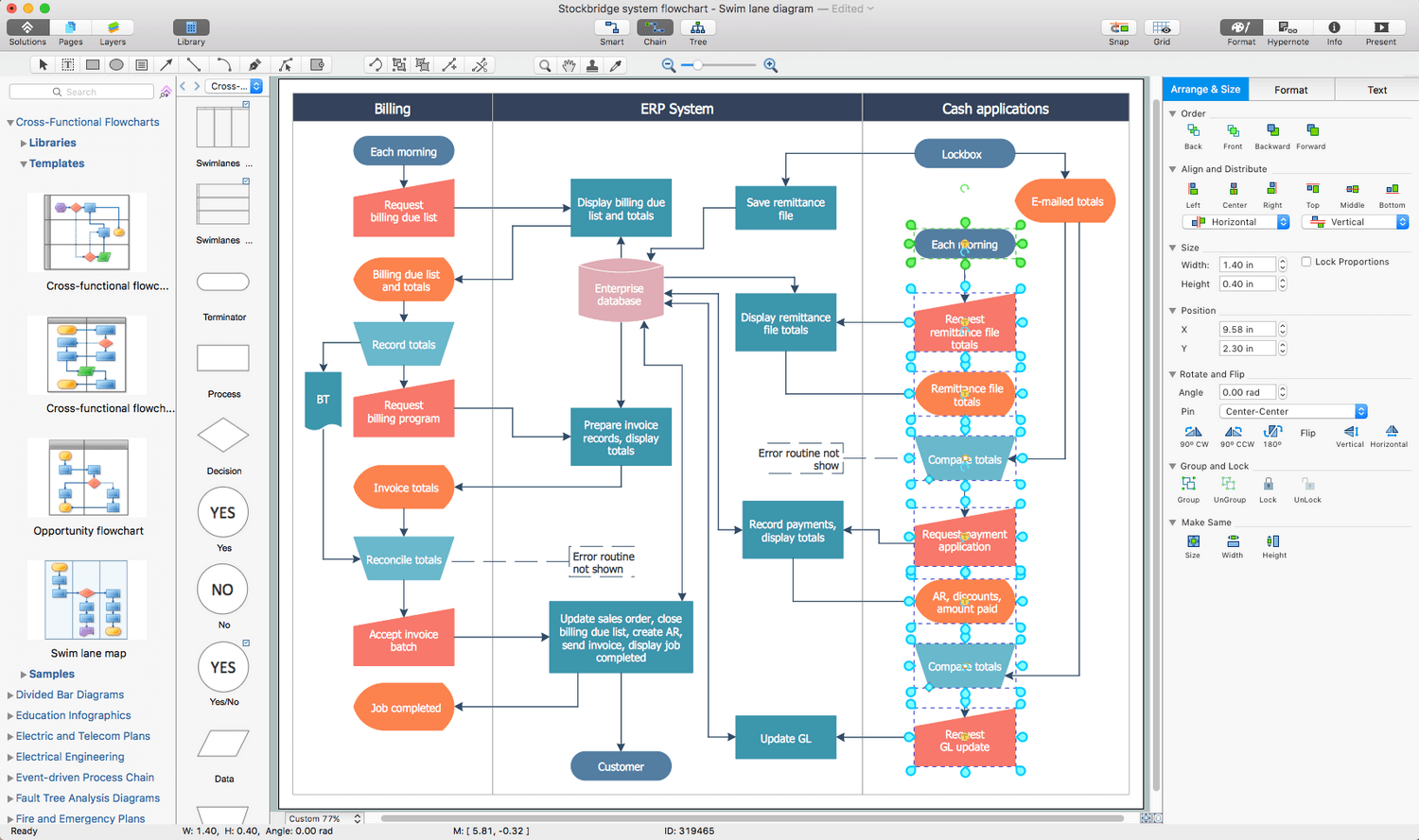 visio cloud diagram 1991 gmc jimmy radio wiring cross-functional flowcharts solution | conceptdraw.com