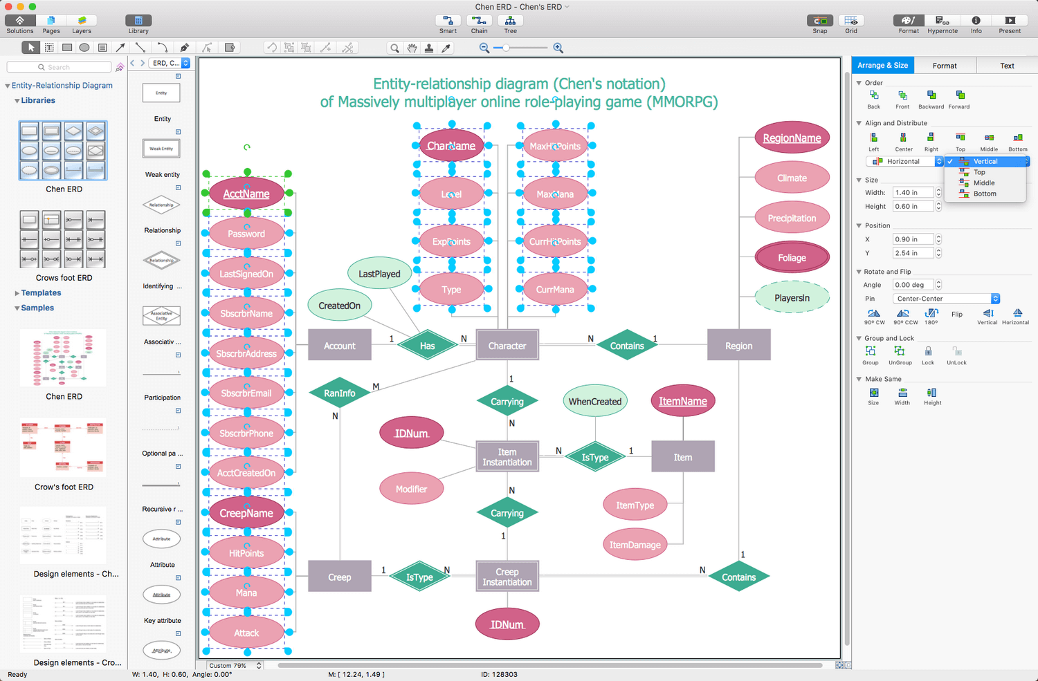erd entity relationship diagram examples tpi wiring solution conceptdraw