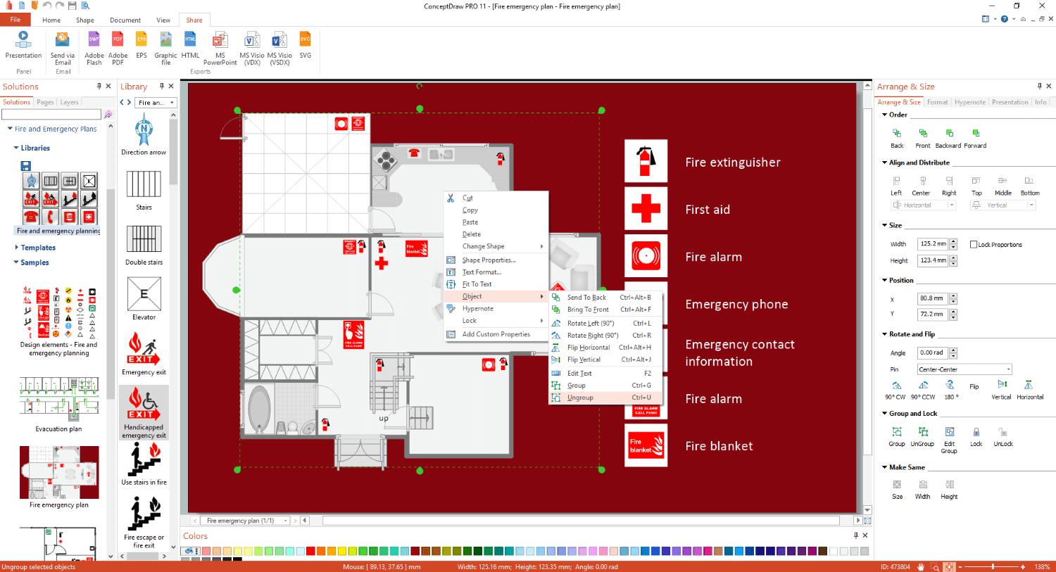 Fire and Emergency Plans Solution  ConceptDrawcom