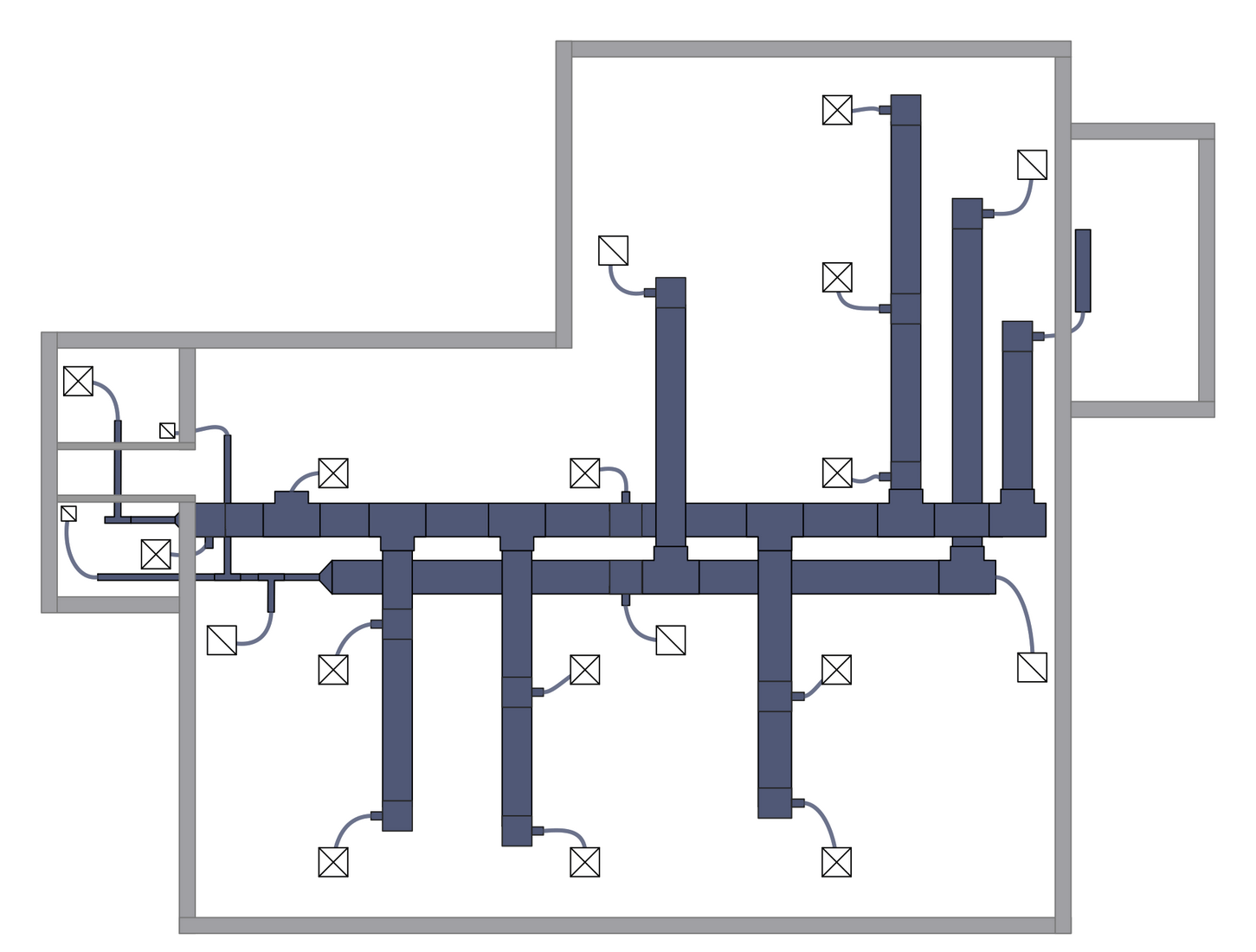 hight resolution of hvac duct drawings