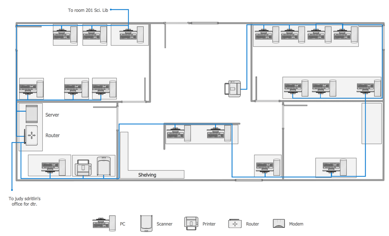 Building Symbols For Cabling Diagram Network Layout Floor Plans Solution Conceptdraw Com
