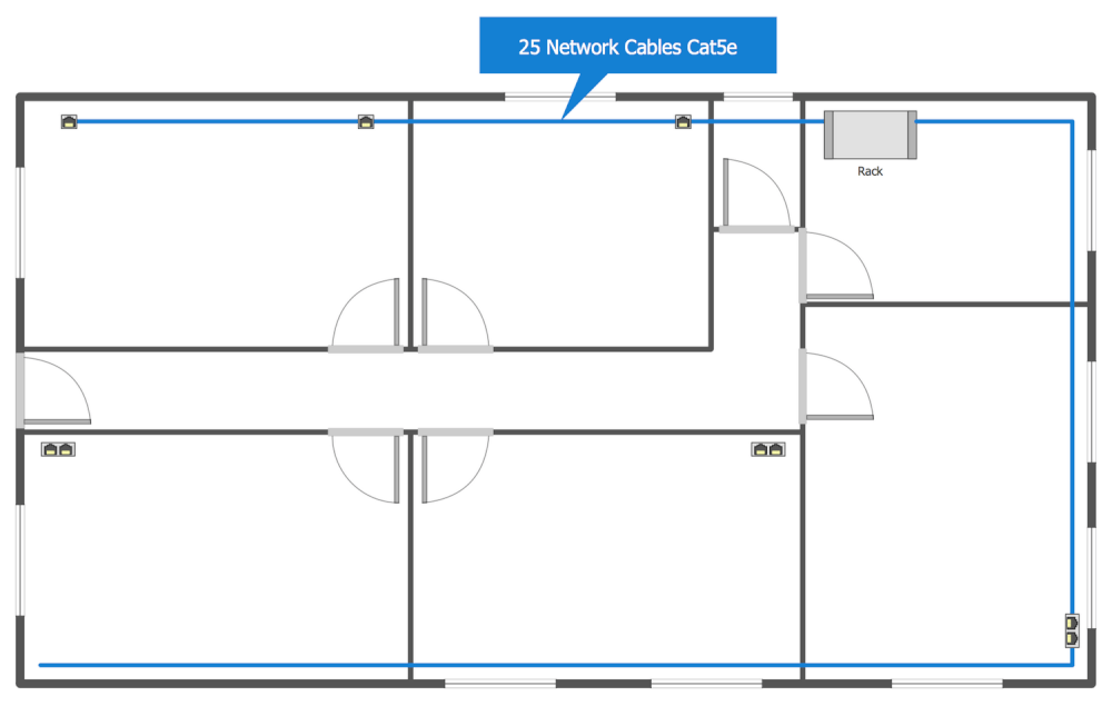 medium resolution of network layout floor plans solution conceptdraw com network wiring diagram floor