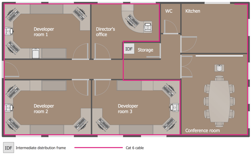 Wiring Diagram For A Network Switch Network Layout Floor Plans Solution Conceptdraw Com