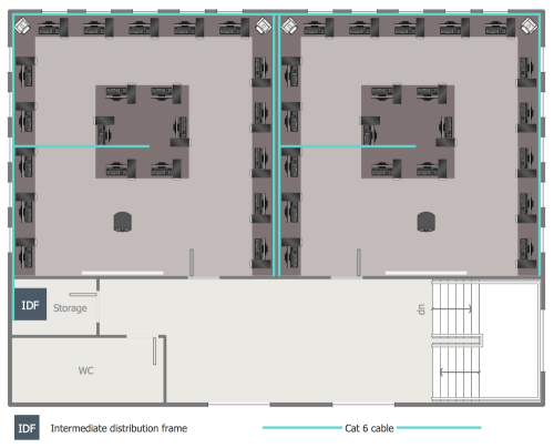 small resolution of second floor network layout plan