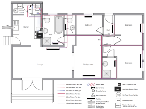 small resolution of restaurant water supply house water heating plumbing and piping plans
