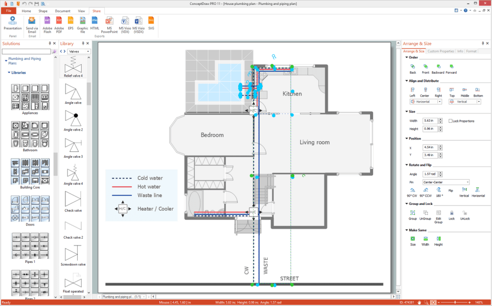 medium resolution of plumbing and piping plans solution for microsoft windows