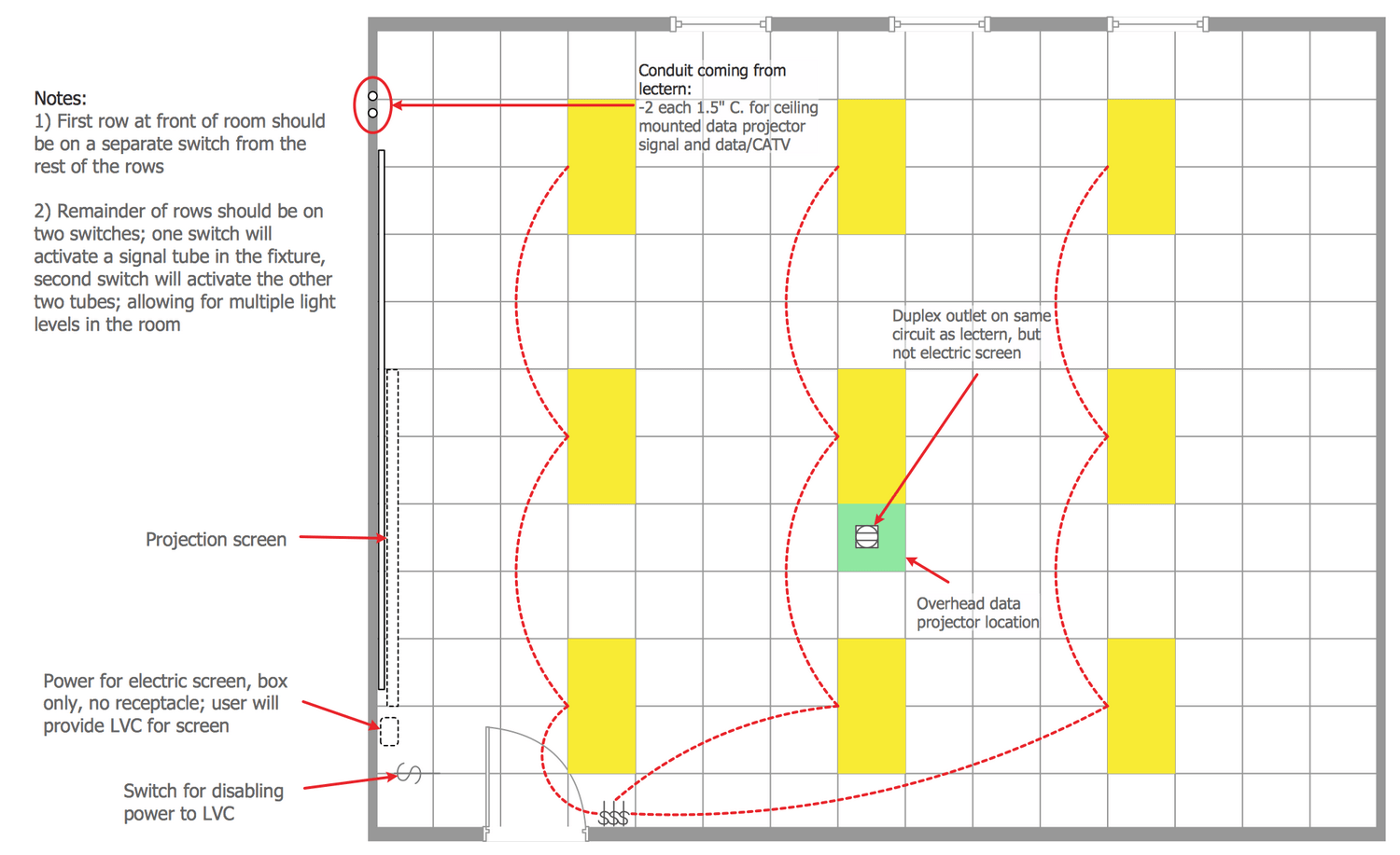 hight resolution of electrical plan vs reflected ceiling plan