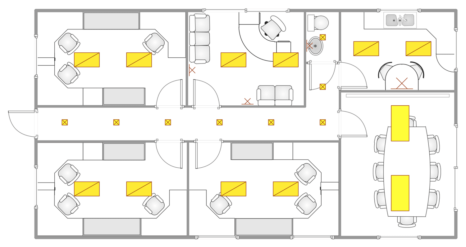 Light Wiring Diagram House Reflected Ceiling Plans Solution Conceptdraw Com
