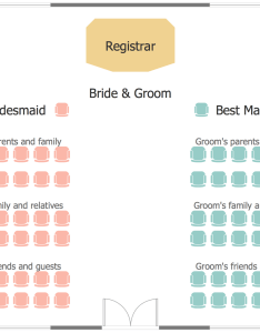 Wedding ceremony seating plan also plans solution conceptdraw rh
