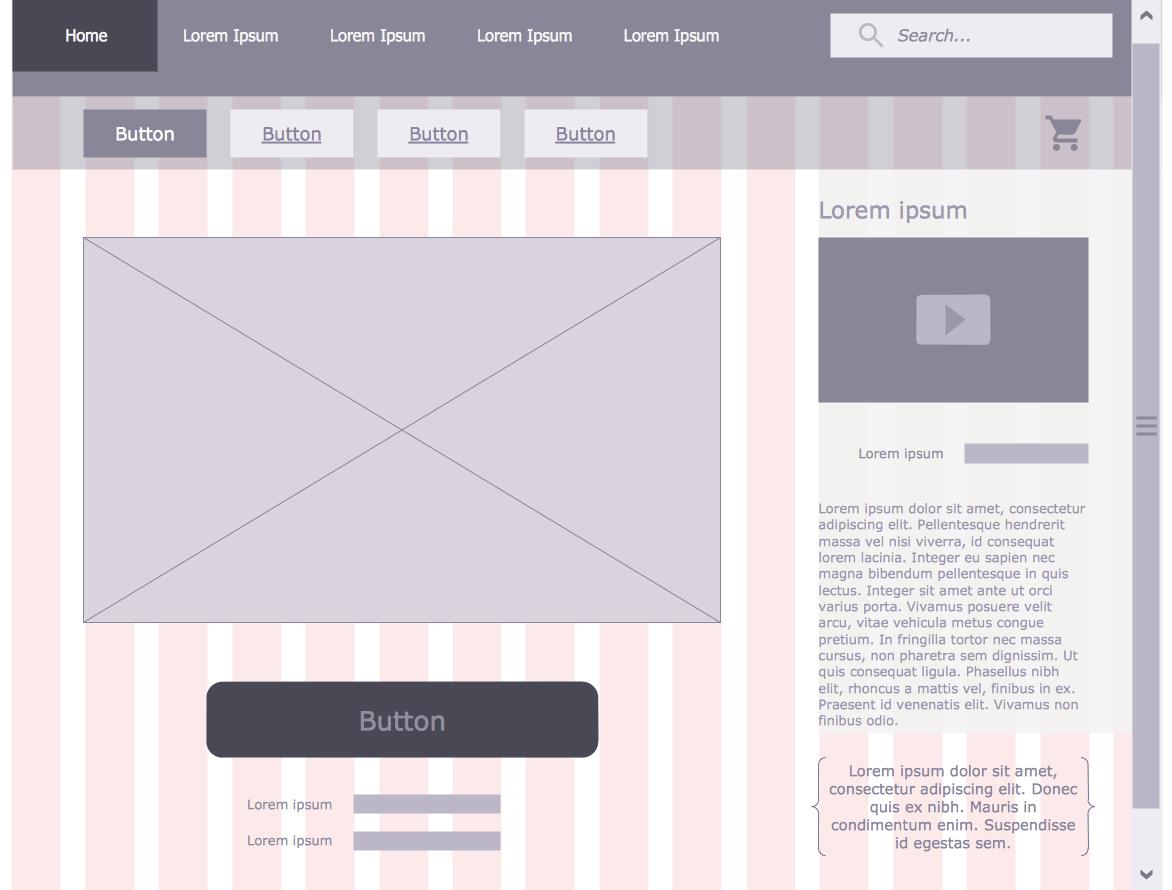 website wireframe diagram example hyundai accent wiring solution | conceptdraw.com