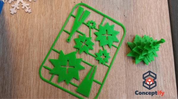 Kit Sapin de Noël réalisé par impression 3D