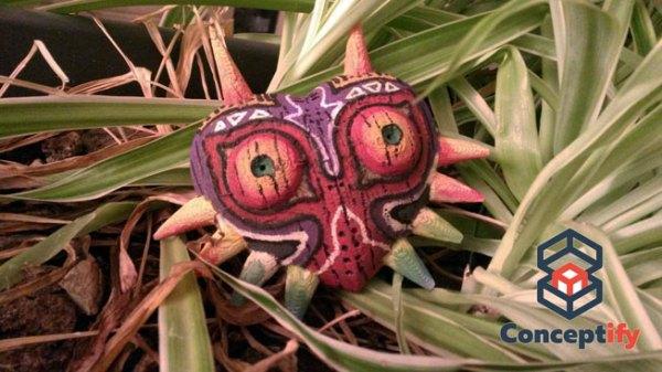 Masque de Majora en bois réalisé en impression 3D