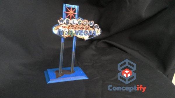 Pancarte Fallout New Vegas Impression 3D Bleue