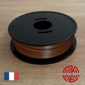 Filament PLA Marron pour imprimante 3D fabriqué en France