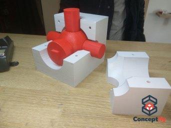 Maquette de raccord de gaz imprimée en 3D