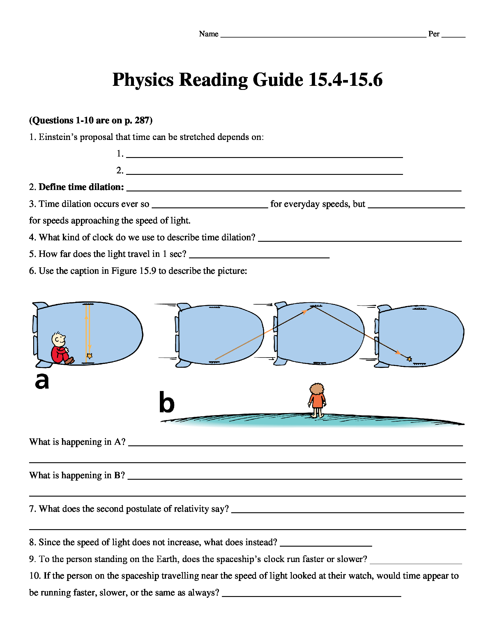 Conceptual Physics Reading Guide Worksheet Chapter