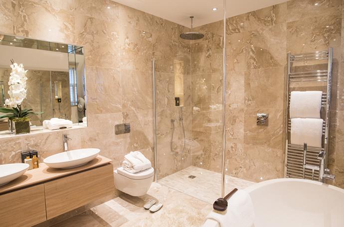 architectural bathroom design concept