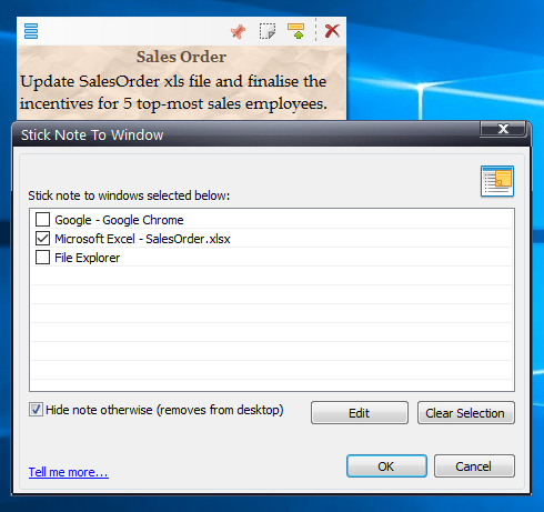 Attaching sticky notes to Microsoft Excel spreadsheet in Windows ...