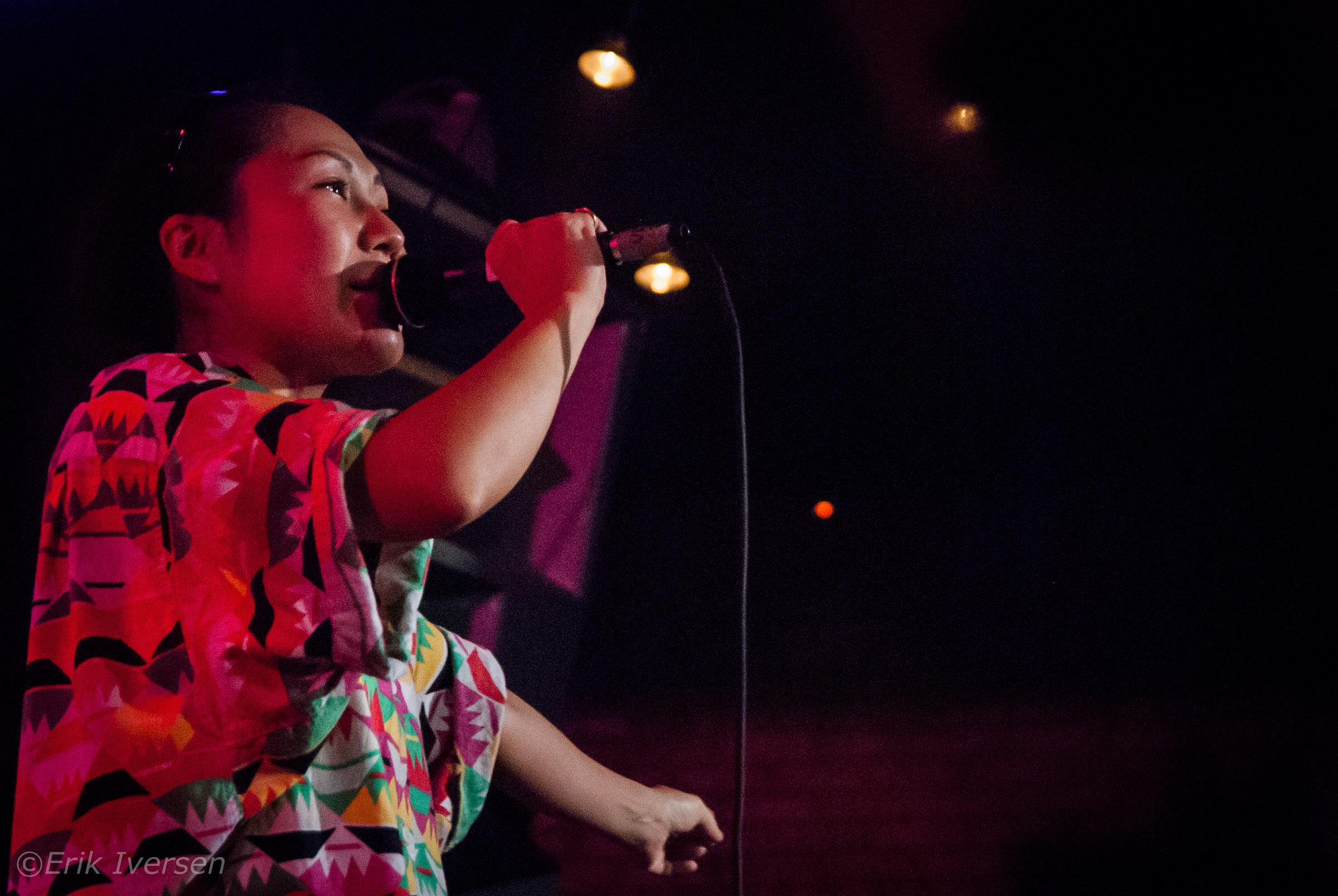 Satomi Matsuzaki of Deerhoof @ Fortune Sound Club © Erik Iversen