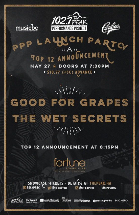the wet secrets and good for grapes at fortune sound club poster 2015