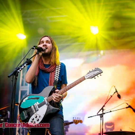 Musician Kevin Parker of Tame Impala performing at Malkin Bowl in Vancouver, BC on May 26th 2015