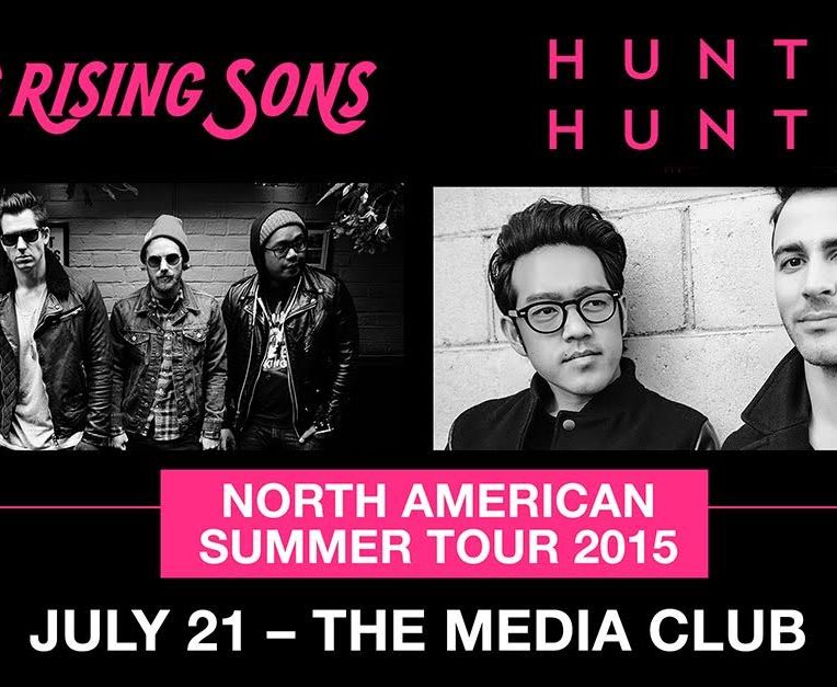 young rising sons hunter hunted at media club vancouver poster banner 2015