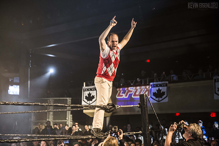 Photos of ECCW Wrestling at Commodore Ballroom in Vancouver, BC on January 16th 2016