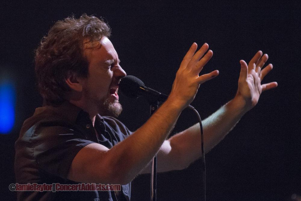 Eddie Vedder of Pearl Jam at Rogers Arena Vancouver