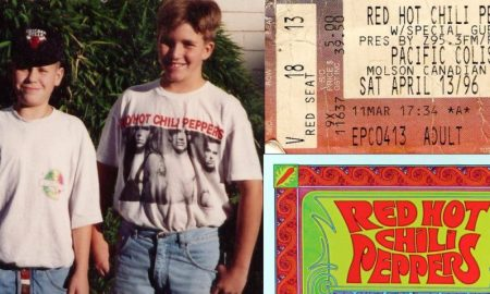 jamie taylor red hot chili peppers 1996 concert vancouver pacific coliseum nigle holubitsky