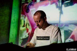 Kode9 x Lawrence Lek @ Moogfest 2016 © Dan Kulpa