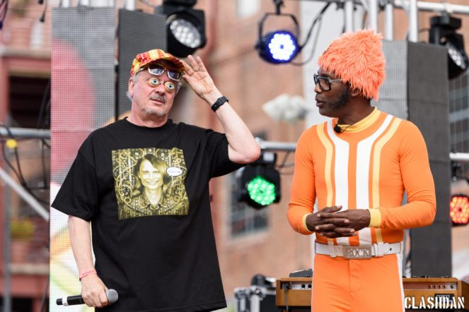 DJ Lance Rock with Mark Mothersbaugh @ Moogfest 2016 © Dan Kulpa