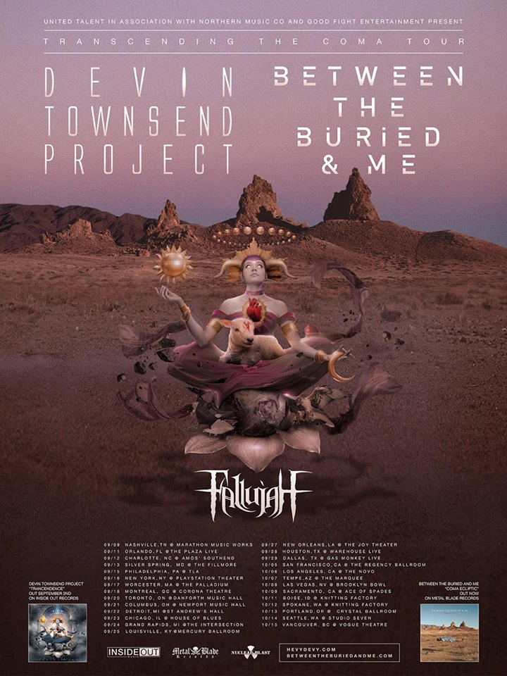 Devin Townsend + Between The Buried And Me + Fellujah at The Vogue Theatre