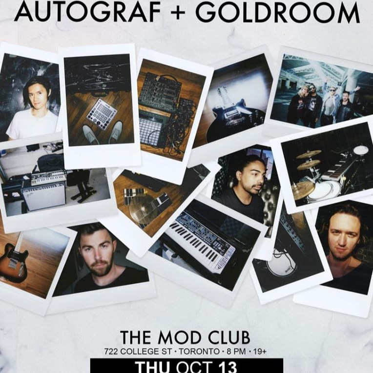 Autograf @ The Mod Club - October 13th 2016