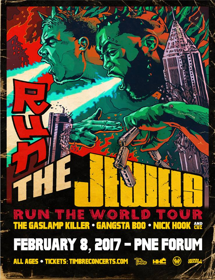 run the jewels pne forum 2017 vancouver poster