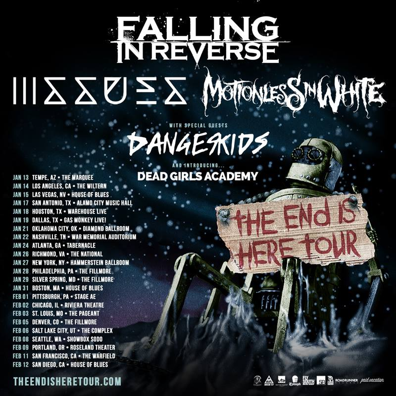 falling in reverse the end is near tour 2017