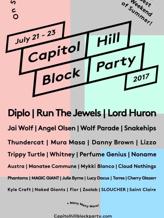 capitol hill block party 2017 lineup