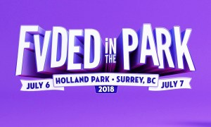 FVDED in the Park 2018 lineup poster, show in Holland Park (Surrey, BC)
