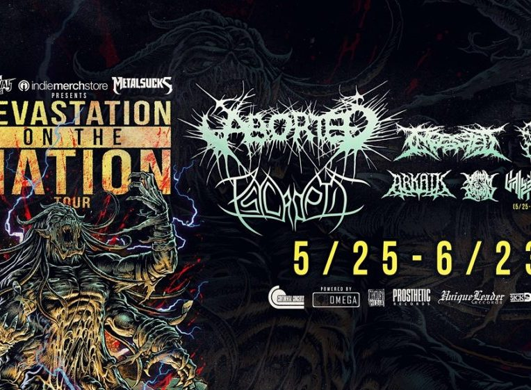 Devastation On The Nation Tour: Aborted + Psycroptic + INGESTED + DISENTOMB + ARKAIK + Venom Prison + Vale of Pnath at Rickshaw Theatre