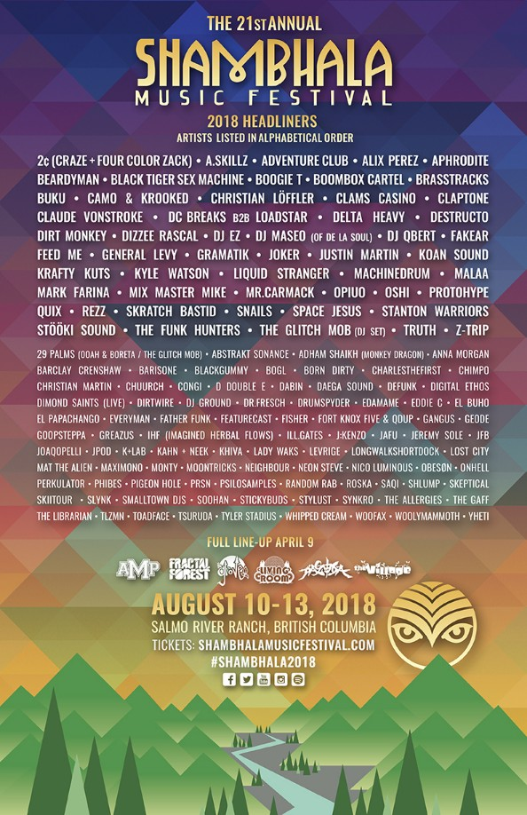 Shambhala Music Festival 2018 at Salmo River Ranch in bc