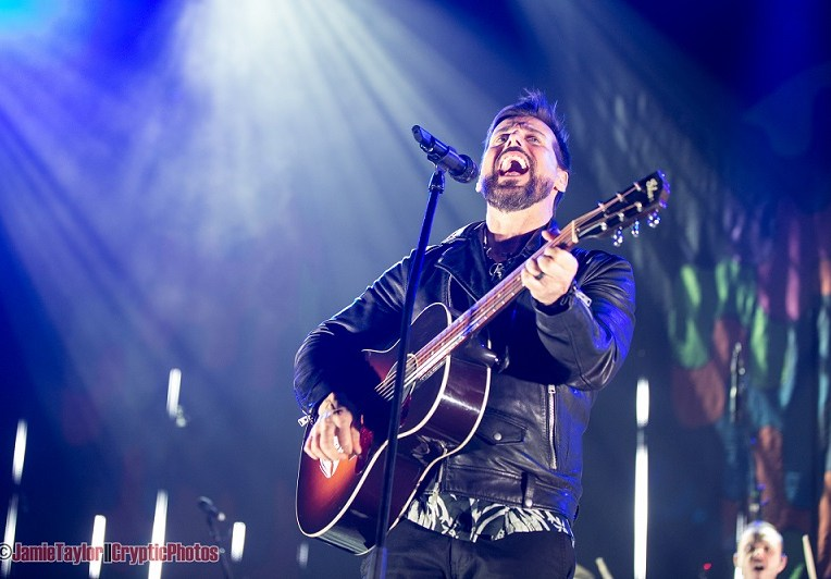 Raine Maida of Our Lady Peace performing at Abbotsford Centre in Abbotsford, BC on March 31st 2018