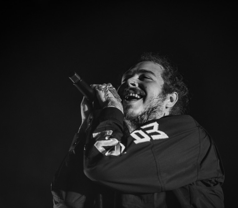 Post Malone performing at Rogers Arena in Vancouver, BC on April 27th 2018