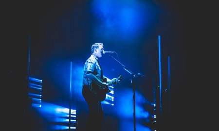 Josh Homme of Queens of the Stone Age performing at Rogers Place in Edmonton, AB on May 18th 2018