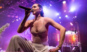 Sophie Hawley-Weld of Sofi Tukker performing at The Commodore Ballroom in Vancouver, BC on May 22nd, 2018