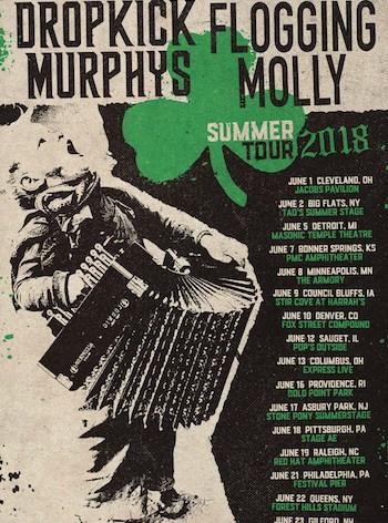 Dropkick Murphys and Flogging Molly Announce Coheadlining Tour 2018