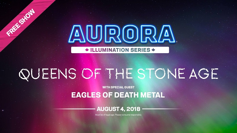 Aurora Illumination concert series with Queens of the Stone Age , Eagles of Death Metal , Commodore Ballroom august 4th 2018