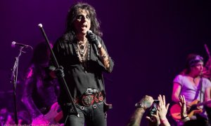 Alice Cooper performing at the Queen Elizabeth Theatre in Vancouver, BC on August 20th, 2018