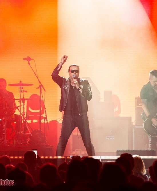 Singer Ian Astbury of British rock band The Cult performing at Abbotsford Centre in Abbotsford, BC on August 28th, 2018