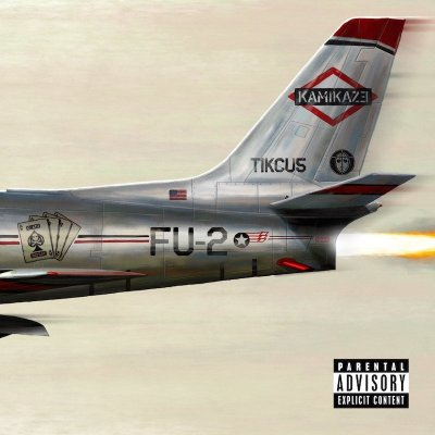 The front cover of Eminem's new album Kamikaze released on August 31st, 2018