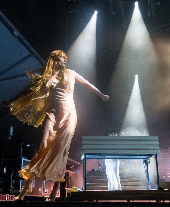 Singer Florence Welch of Florence + The Machine performing at Skookum Music Festival in Vancouver, BC on September 8th 2018