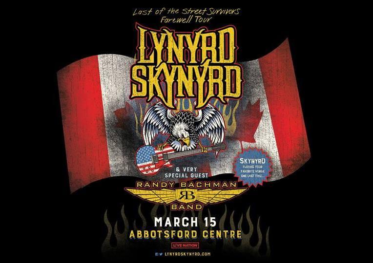 """Last of the Street Survivors Farewell Tour"" ft. Lynyrd Skynyrd + Randy Bachman at Abbotsford Centre"